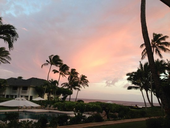 Poipu Kapili: Sunset from the lanai