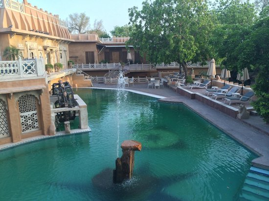 Ajit Bhawan : Another view of the pool