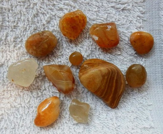 Damon Point: Agates collected from beachcombing
