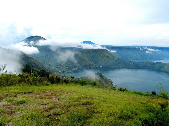 """View of Lake Toba from """"One Tree Hill"""""""