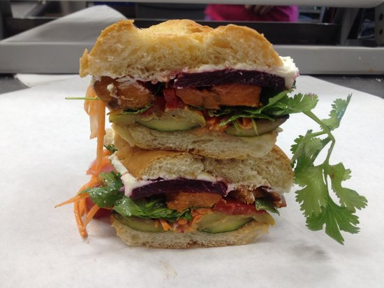 Stone Table's vegetable sandwich