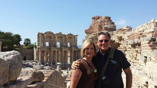 Ephesus Travel Guide - Private Ephesus Tours: Jack and Deb exploring history