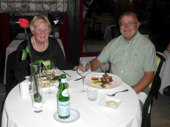 Auberge du Lac : Martine en Luc hebben genoten van het gastronomisch lekkere diner