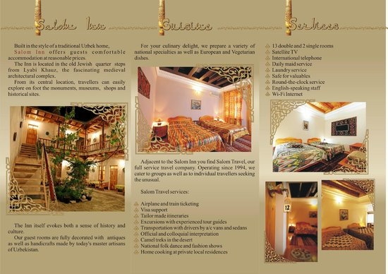 Salom Inn: Services/Rooms