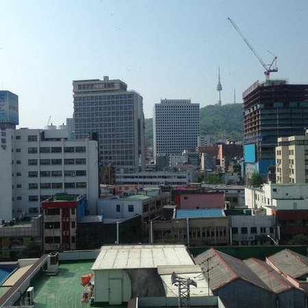 Staz Hotel Myeongdong Ⅰ : decent view of the Namsan Tower in the distance