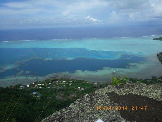 Maupiti Island, Polinesia francese: vue du sommet