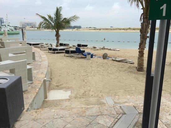 Jumeirah at Etihad Towers : der Strand, leider geschlossen