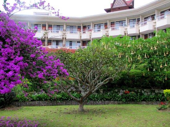 Sinabung Resort Hotel: Hotel from garden