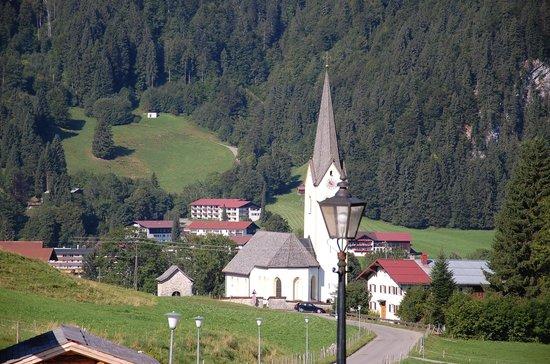 Hotel Bergruh: Aussicht von der Terrasse