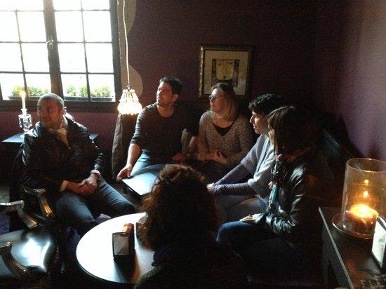 Maison du Colombier: Salon à l'étage