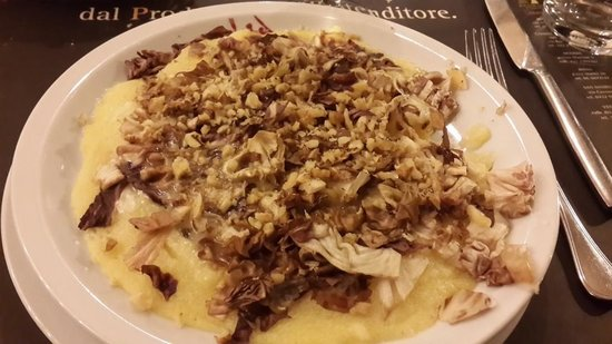 Pane Vino e San Daniele : walnut polenta