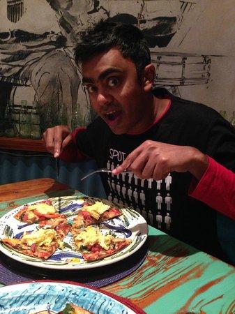Cocomo Restaurant: My boyfriend digging in