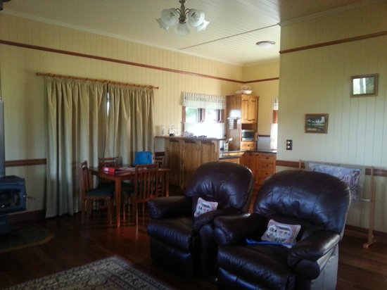R on the Downs Rural Retreat: The main living area