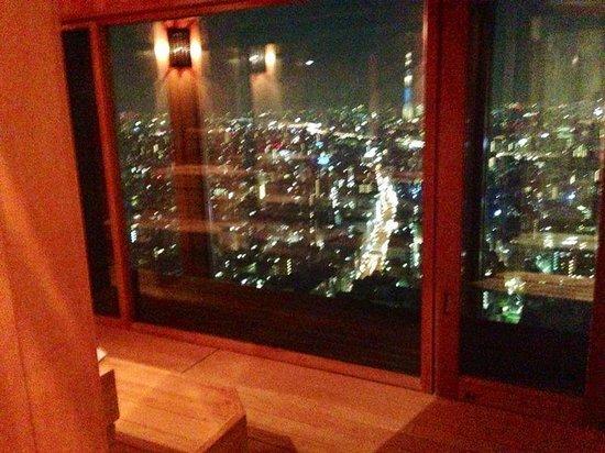 Mandarin Oriental, Tokyo: sauna view