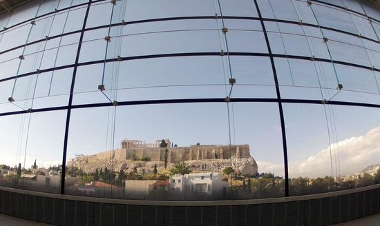 The view of Acropolis from Acropolis museum