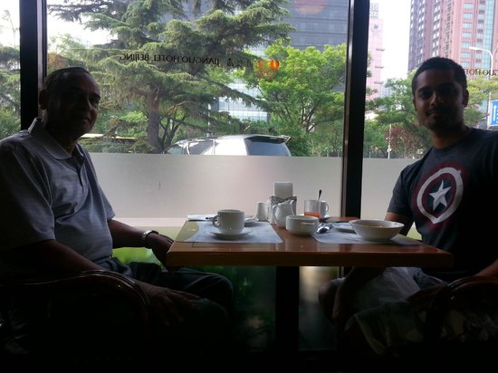 Beijing Jianguo Hotel : Me and my Dad eating breakfast