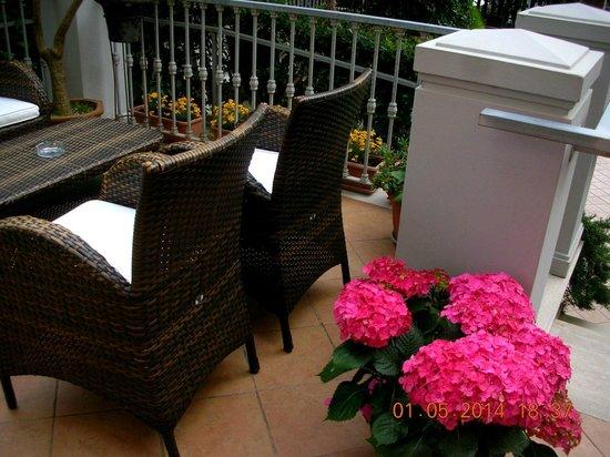 Hotel La Bitta - Pietrasanta: Giardino d'ingresso.