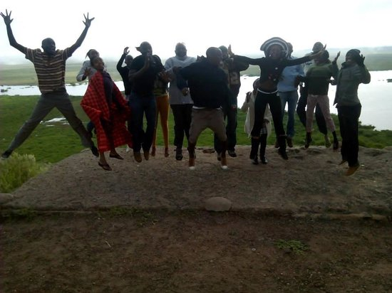 Kibo Safari Camp: group photo