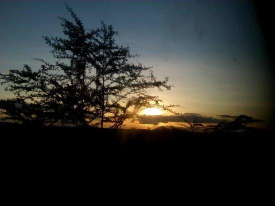 Kibo Safari Camp: sunset