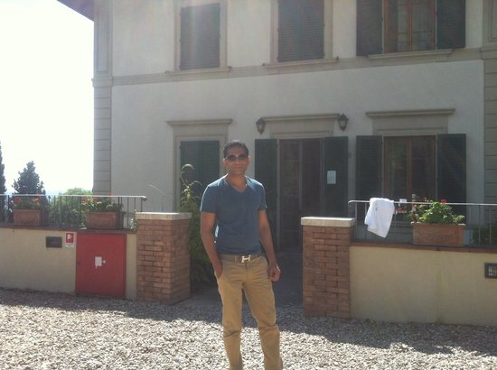 FH Villa Fiesole Hotel : In front of our room