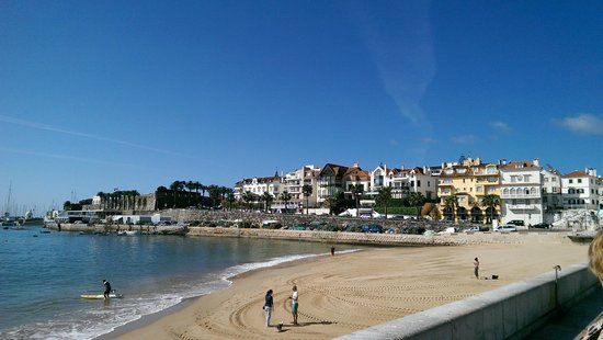 Cascais city centre with beach