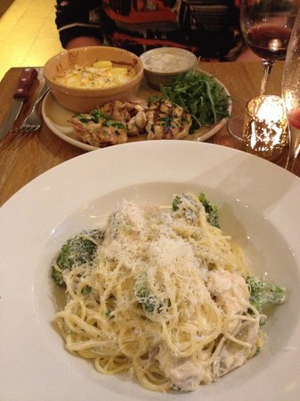 Wild Wood: The salmon pasta is too good for words!