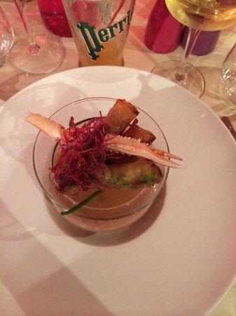 Restaurant Les Viviers Saint Martin : Nem de gambas et soupe de poisson