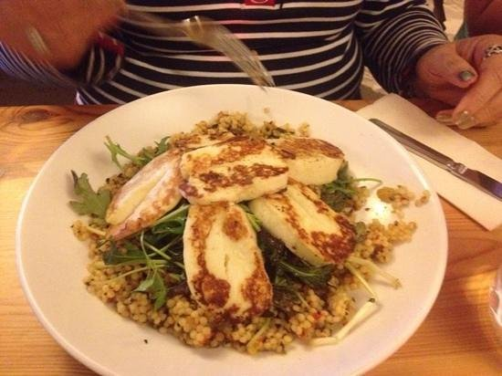Olive Tree: halloumi salad with pearl couscous