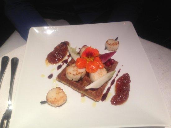Le Restaurant LMB Biarritz : Gaufres et saint Jacques a la vanille