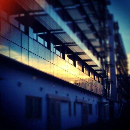 Hotel Cristina: External at sunset