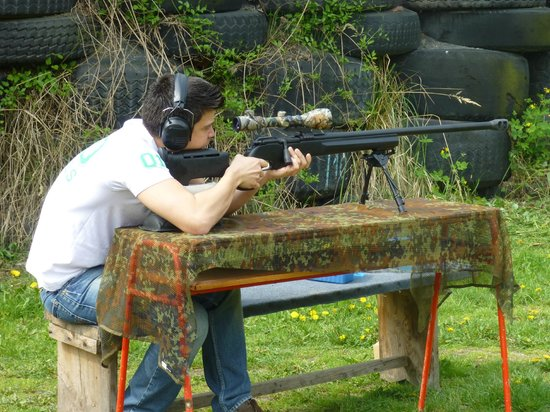 Shooting Range Prague: Package nr.10 includes.. yess.. A sniper Rifle!