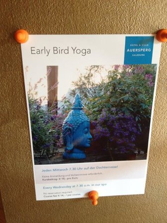 Hotel&Villa Auersperg : Weekly yoga on the roof terrace