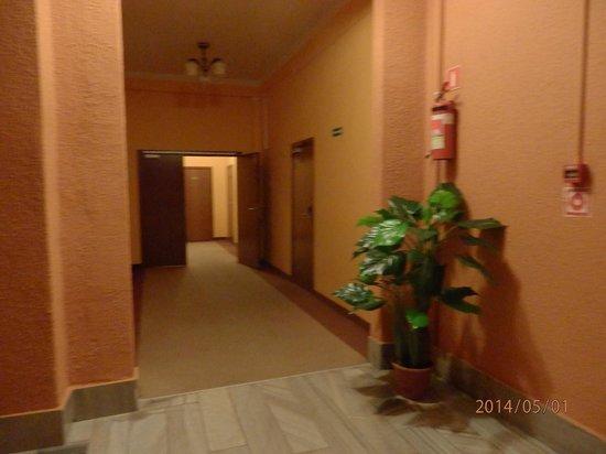 Hotel Lothus: Pasillo desde el ascensor