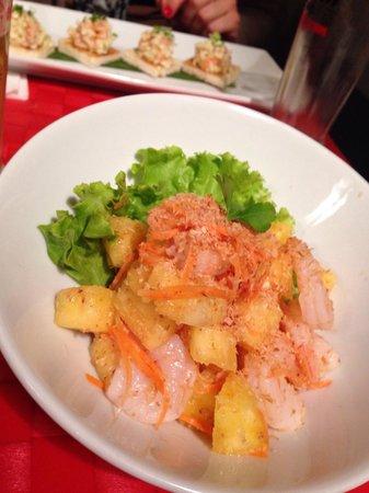 Magokoro : Salade ananas crevettes