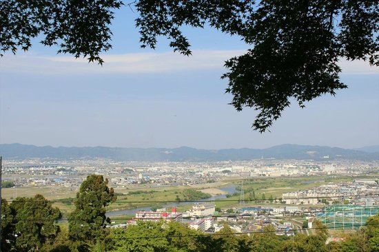 Iwashimizu Hachimangu: 山頂からの眺め(展望台)