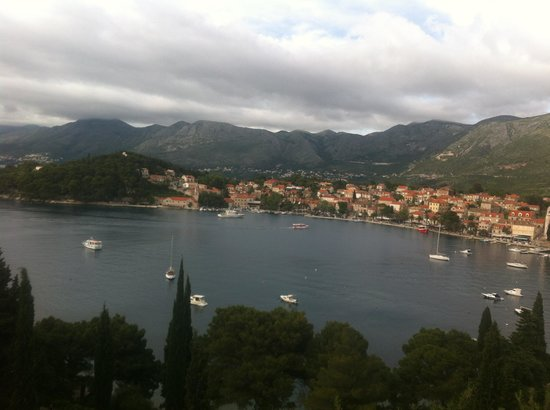 Hotel Croatia Cavtat : View from outside bar area