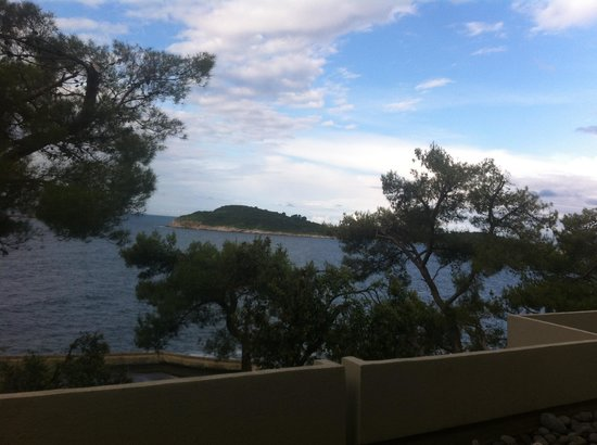 Hotel Croatia Cavtat : View from room