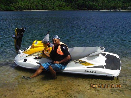 Royal Davui Island Resort, Fiji : Jet ski tour