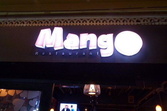 Mango Restaurant sign