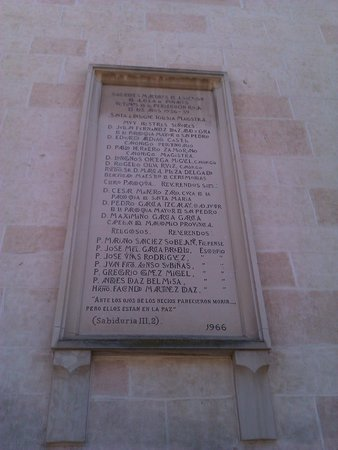 """Catedral de Alcalá de Henares: """"víctimas de la persecución roja"""""""