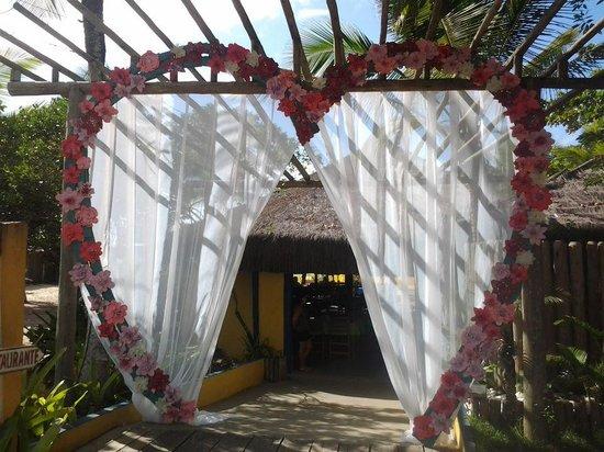 entrada decorada para a ocasião - Foto de Cabana Malibu, Porto ... 690e14ac87