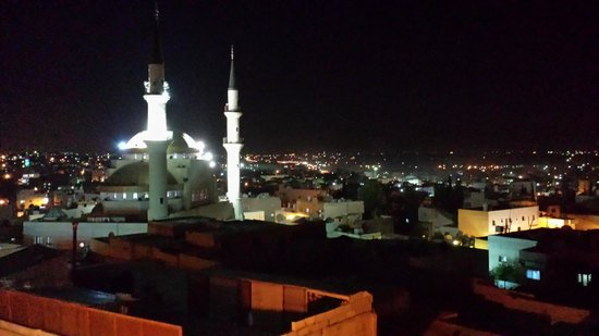 Saint John Hotel: The local mosque from the terrace restaurant