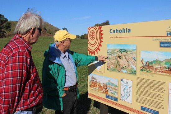 Cahokia Mounds State Historic Site: Signage, Monks Mound, Cahokia Oct 2013