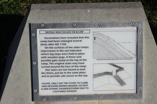 Cahokia Mounds State Historic Site: Monks Mound explained, Cahokia Mounds, Oct 2013