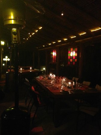 Thabile Lodge: Dining on the veranda