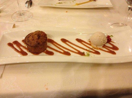 La Croix d'Or: Dessert : Coulant spéculoos et caramel