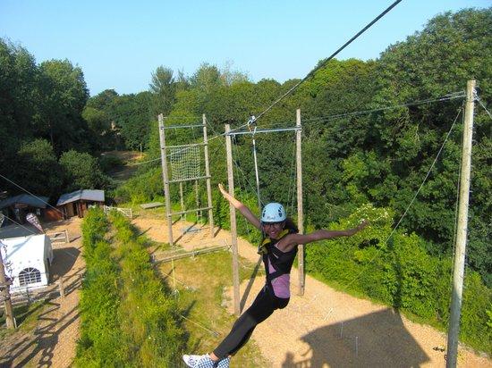 Creepy Valley Adventure Centre: 145 metre Zip Wire