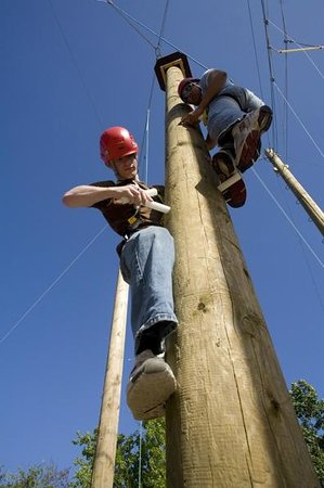 Creepy Valley Adventure Centre: Peg Pole Challenge