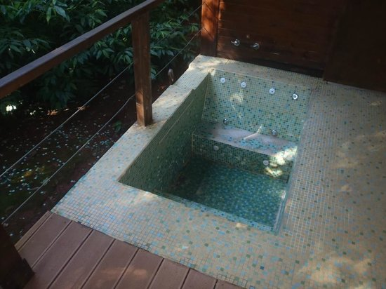 La Cantera Jungle Lodge: Jacuzzi in bad state of repair