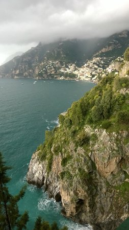 Il San Pietro di Positano: View from main lobby facing Positano